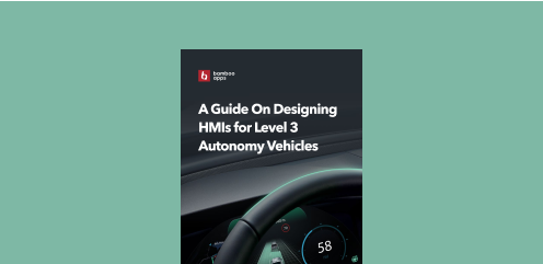 Read more about the principles of building interfaces for HMIs shaped by high levels of autonomy